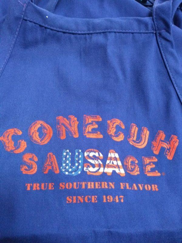 Blue USA Conecuh Sausage Apron