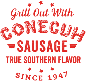 Grill Out with Conecuh Sausage True Southern Flavor marketing logo