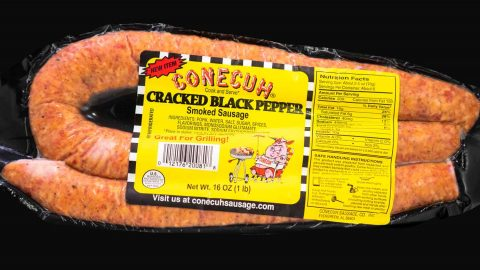 Cracked Black Pepper Smoked Sausage