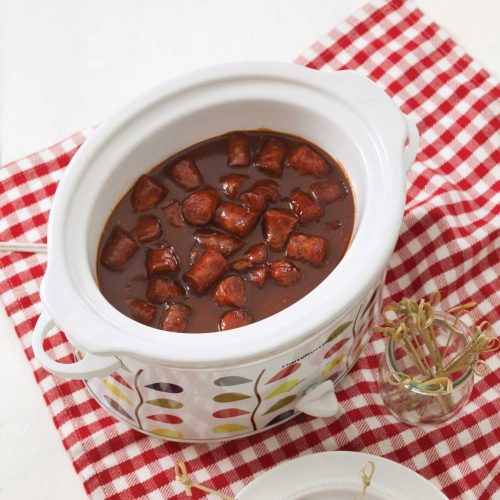 Cocktail Sausages in a crock pot