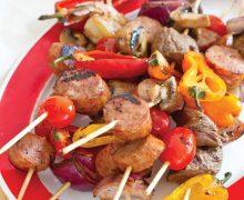 Conecuh Sausage and Shrimp Kabobs