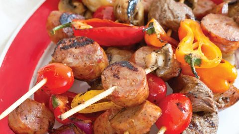 Conecuh Sausage and Shrimp Kabobs