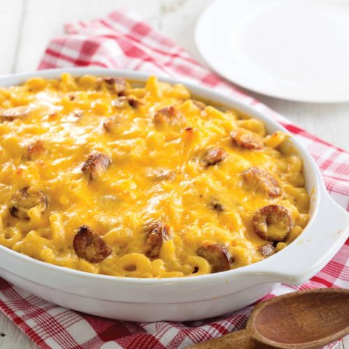 Mac and Cheese with Conecuh Sausage