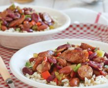 Easy Red Beans and Rice with Conecuh Sausage