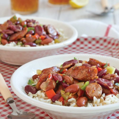 Red Beans and Rice with Conecuh Sausage