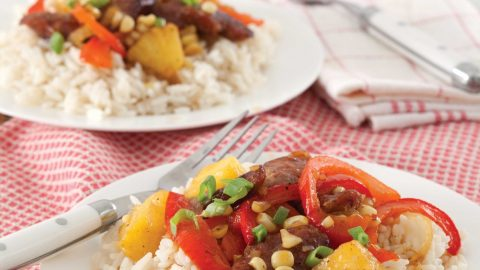 Stir Fry with Sausage and Pepper over Rice